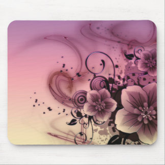 Pink Girlie Flower Mousepad