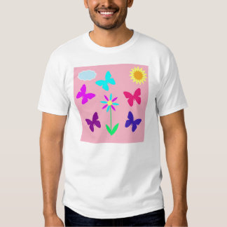 Pink Girl's Butterfly Tshirt
