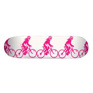 Pink Girls Cycle Image Skateboard