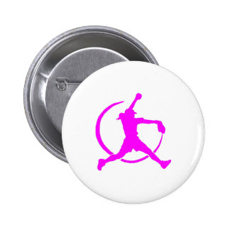 """Pink Girl's """"FAST PITCH SOFTBALL"""" image Pins"""