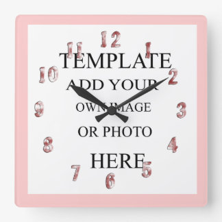 Pink Girls Photo Decor Wall Clock Personalised
