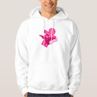 Pink Girls Snowboarder Logo Hooded Pullover