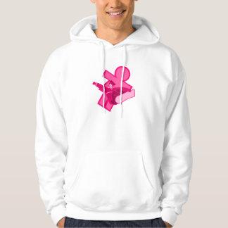 Pink Girls Snowboarder Logo Hoodie