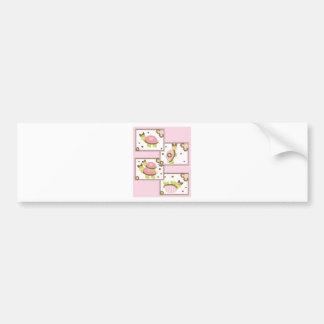 Pink Girls Turtle Bumper Sticker