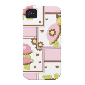 Pink Girls Turtle iPhone 4 Cover