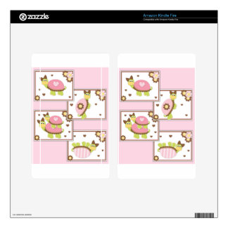 Pink Girls Turtle Kindle Fire Skin