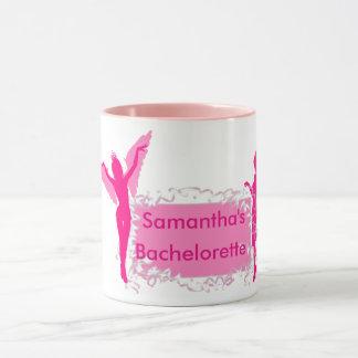 Pink girly bachelorette party mug