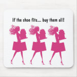 Pink Girly Funny Mousepads