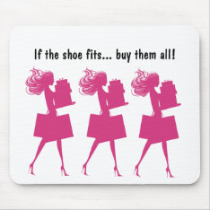 Pink Girly Funny Mousepads at Zazzle