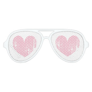 Pink girly heart Halloween costume party shades
