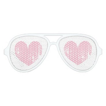 Halloween Themed Pink girly heart Halloween costume party shades
