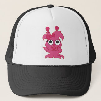 Pink Girly Monster Trucker Hat