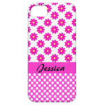 Pink Girly Name - iPhone 5 Cover