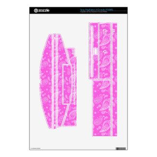 Pink Girly Paisley PS3 Skin
