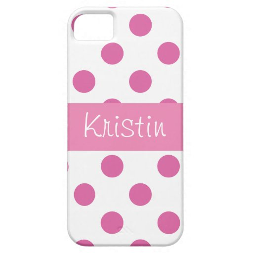 Pink girly Polka Dot Iphone 5 cases