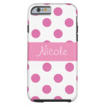 Pink Girly Polka Dot iPhone 6 case