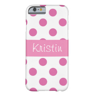 Pink girly Polka Dot iPhone 6 case