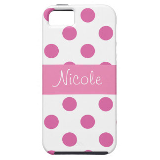 Pink Girly Polka Dot Iphone cases
