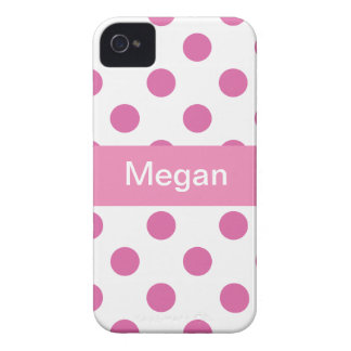 Pink Girly Polka Dot pattern Iphone 4 cases