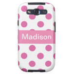 Pink Girly Polka dot Pattern IPhone cases Samsung Galaxy SIII Cover