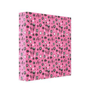 Pink Girly Punk Rock Pattern Canvas Print