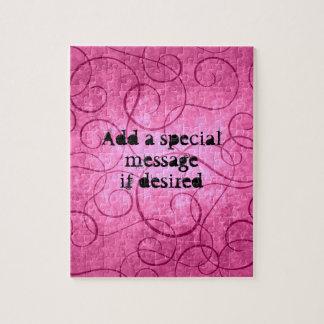 Pink girly swirls jigsaw puzzle