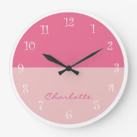 Pink Girly Wall Decor Clock