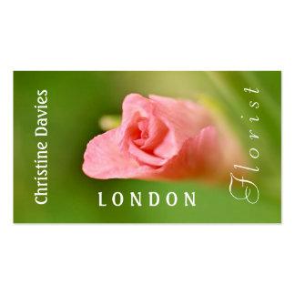 Pink gladiola photograhy, florist business card