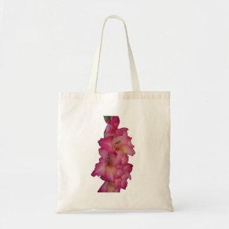 pink gladiolus tote bag