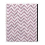 Pink Glam Faux Glitter Chevron iPad Case
