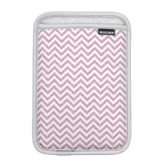 Pink Glam Faux Glitter Chevron iPad Mini Sleeve