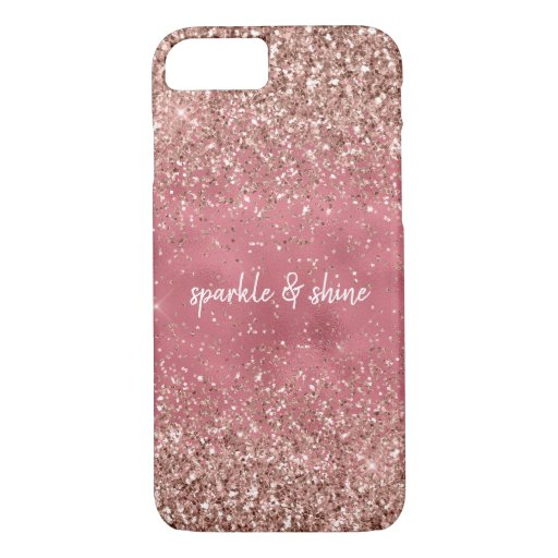 Pink Glam Glitzy glitter iPhone 8/7 Case