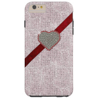 Pink Glam Heart iPhone 6 Plus case