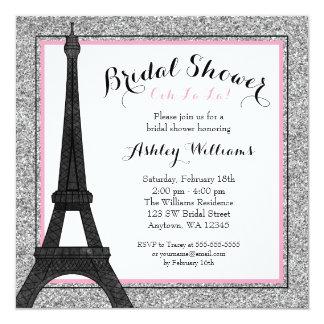 Pink Glam Paris Bridal Shower Card