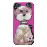Pink Glass-Bead Cat Cover For iPhone SE/5/5s