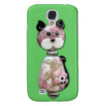 Pink Glass-Bead Cat Samsung Galaxy S4 Cover