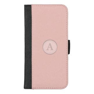 Pink Glass Button Monogram iPhone 8/7 Plus Wallet Case