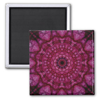 Pink glass ceiling 2 inch square magnet