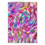 Pink Glass Greeting Card