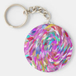 Pink Glass Key Chains