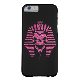 Pink Glitter Abstract Mummy Skull Cool Barely There iPhone 6 Case