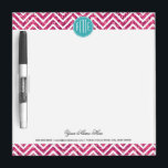 "Pink Glitter and Mint Custom Monogram Dry Erase Board<br><div class=""desc""></div>"