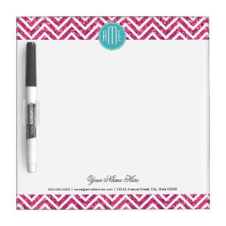 Pink Glitter and Mint Custom Monogram Dry Erase Board
