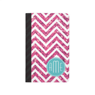 Pink Glitter and Mint Custom Monogram Journal