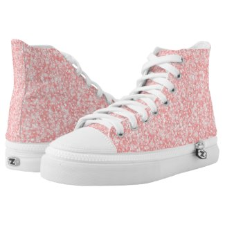Pink Glitter And Sparkles Pattern Printed Shoes