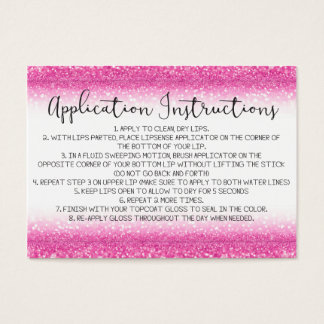 Pink business cards templates zazzle pink glitter application instructions business card reheart Gallery
