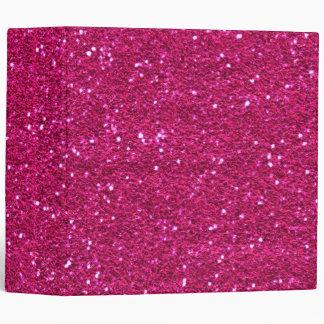 Pink Glitter Binder