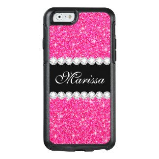 Pink Glitter Black Otterbox iPhone 6/6s Case