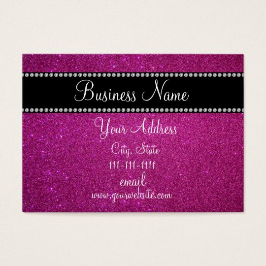 Pink glitter bling business card