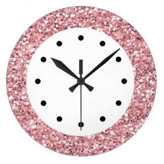 Pink Glitter Bling Clocks